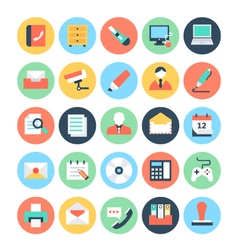 Office colored icons 2 vector