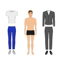 A man in his underwear vector