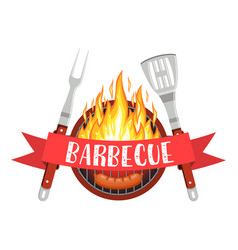 Barbecue party logo vector