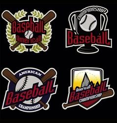 Baseball tournament professional logo vector