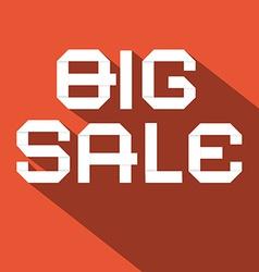 Big Sale Flat Design on Red Background vector image vector image