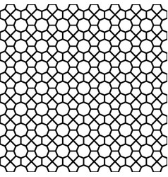 black octagon shape pattern background vector image