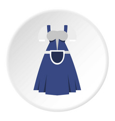 Blue bavarian dress icon circle vector
