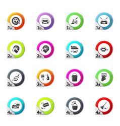 Car wash shower service icons set vector