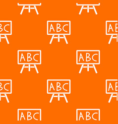 Chalkboard with the leters abc pattern seamless vector