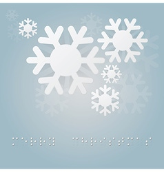 Christmas background with braille alphabet vector