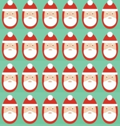 Christmas seamless pattern of Santa Claus vector image