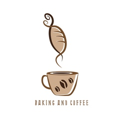Coffee and bakery negative space concept vector