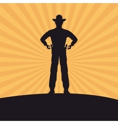 Cowboy silhouette man design vector
