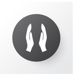 dua icon symbol premium quality isolated worship vector image