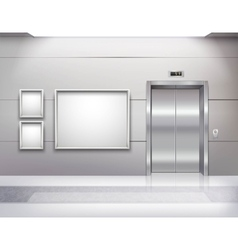 Elevator Hall Interior vector image vector image