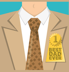 Fathers day man with suit shirt and tie vector