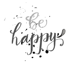 hand lettered wish of happiness on a vector image vector image