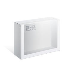 Package box with a transparent plastic window vector