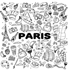 Paris line art design vector image vector image