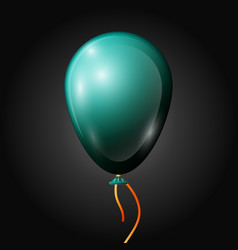 Realistic jade balloon with ribbon isolated vector