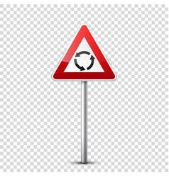 road red signs collection isolated on transparent vector image