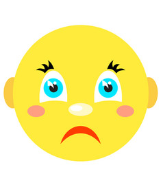 sad smiley icons on a white background vector image vector image