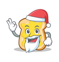 santa slice bread cartoon character vector image vector image