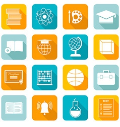 School Subject Icons vector image vector image