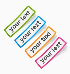 Set of colored sticky papers banners vector