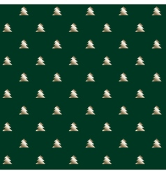 simple elegant Christmas tree seamless pattern vector image