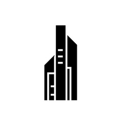 skyscrapper big icon black vector image vector image