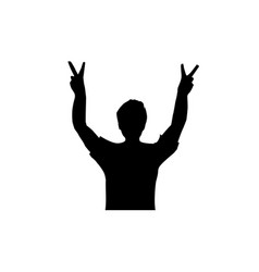 victory sign vector image
