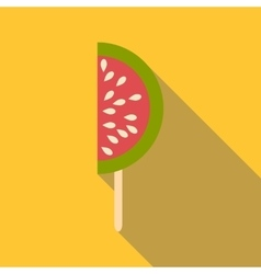 Watermelon ice cream icon flat style vector