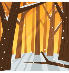 Winter in the Forest vector image