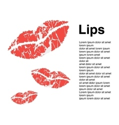 with lips card background vector image vector image
