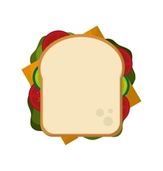 Whole sandwich icon vector