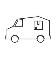 Truck transportation delivery design vector