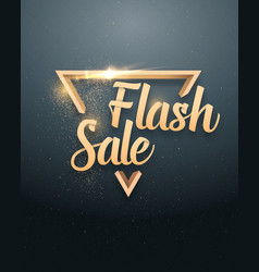 Flash sale lettering with gold glitter vector