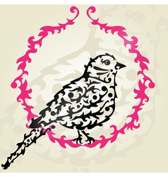 Decorative sparrow vector