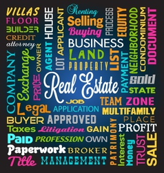 Real Estate Theme Background vector image