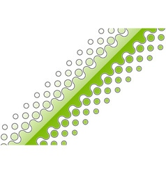 Green abstract decoration on the white vector