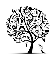 Shoe tree vector