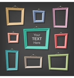Set of cartoon picture frames vector