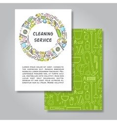 Two sides invitation card design with cleaning vector