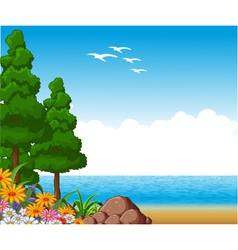 Summer landscape for you design vector