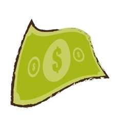 American dollar money bill sketch vector