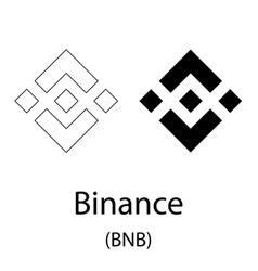 Binance black silhouette vector