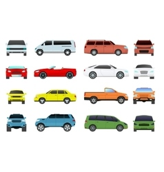 Car types set vector image