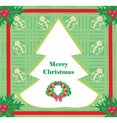 card with Xmas tree vector image