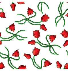 contour tulip pattern vector image vector image