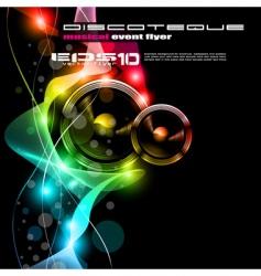 Disco party flyer vector