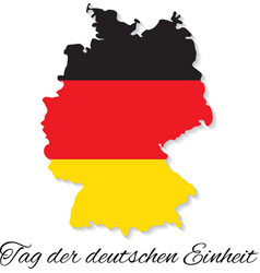 Germany Independence Day German map vector image vector image