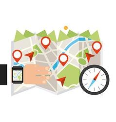 gps app vector image vector image
