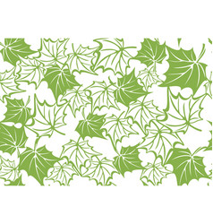 Greenery maple leaf seamless pattern background vector